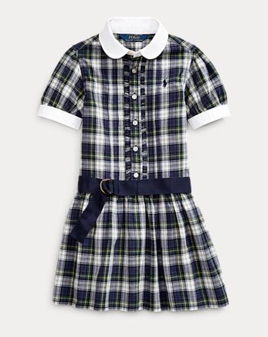 Plaid Cotton Madras Shirtdress