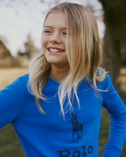 Girls 2-6x Big Pony French Terry Pullover 3