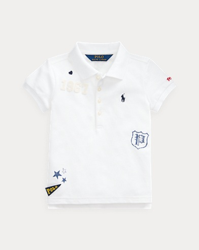 Stretch Mesh Graphic Polo