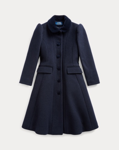 Wool-Blend Princess Coat