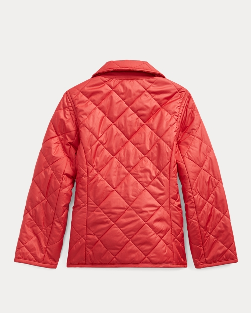 Girls 2-6x Quilted Double-Breasted Jacket 2