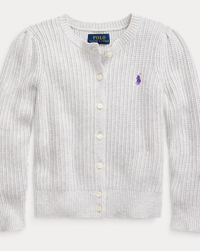Rib-Knit Cotton Cardigan
