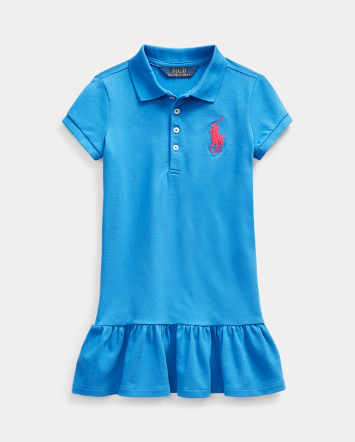 Girls 2-6x Stretch Mesh Polo Dress 1