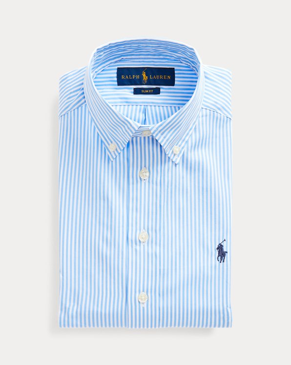 폴로 랄프로렌 보이즈 셔츠 Polo Ralph Lauren Slim Fit Striped Dress Shirt,Blue Multi