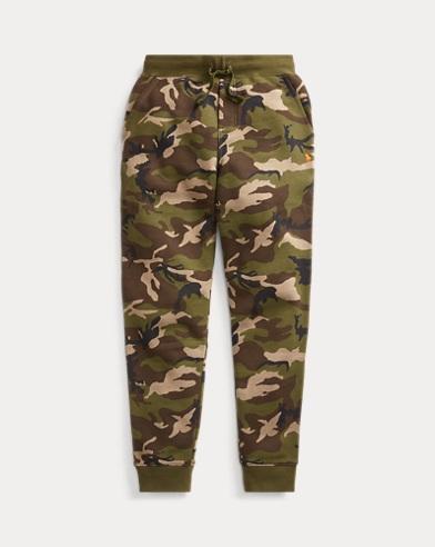 Camo-Print Fleece Jogger Pant