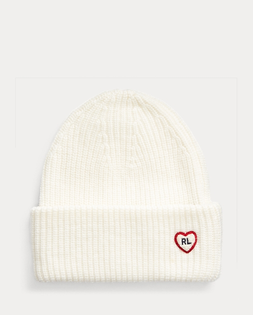 GIRLS 7-14 YEARS Heart-Patch Knit Hat 1