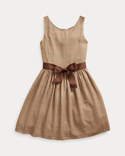 Girls 7-16 Glen Plaid Dobby Dress 1
