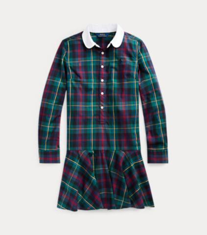 Plaid Cotton Poplin Shirtdress