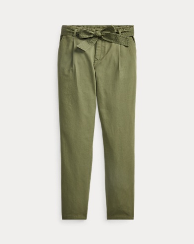 Belted Cotton Chino Trouser