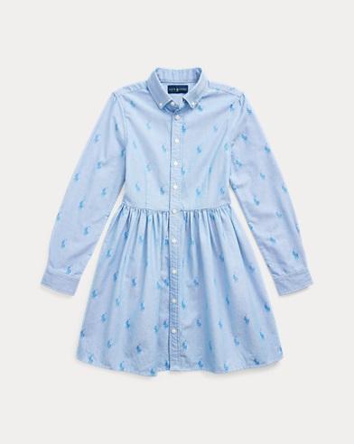 Robe-chemise poney en coton