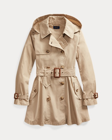 Water-Repellent Trench Coat