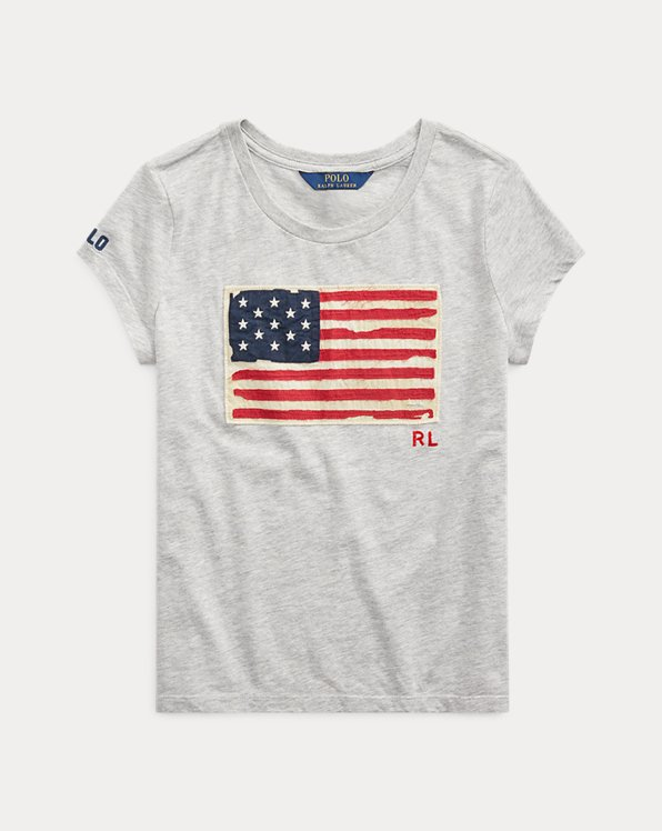 Flag Cotton Jersey Tee