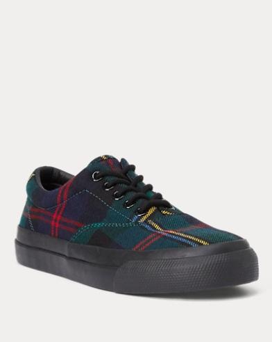 Tartan-Print Wool Bryn Sneaker