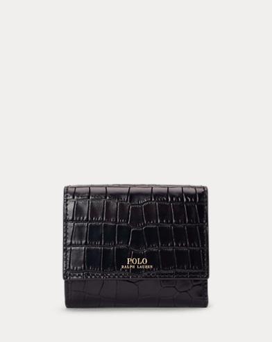 Portefeuille compact en cuir