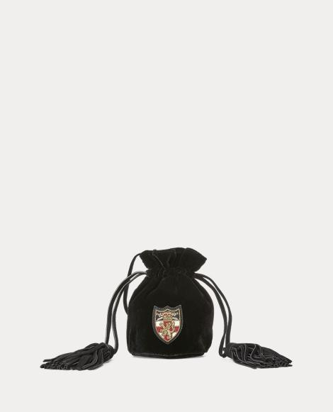 Mini sac velours à cordon de serrage