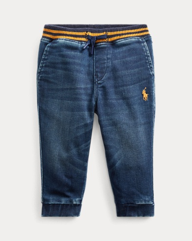Pantalonijogging in denim stretch