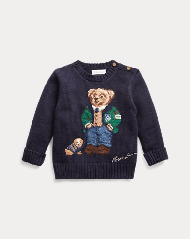 Maglia in cotone e lana Polo Bear