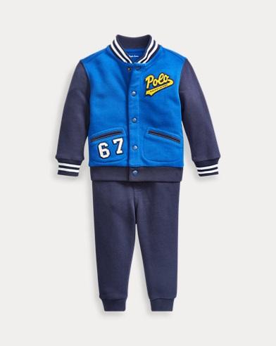 Conjunto de pantalón jogger y chaqueta de algodón
