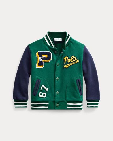 Cotton Terry Letterman Jacket