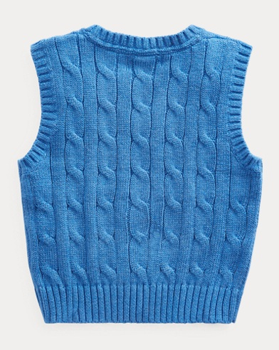 3d1036d2e Cable-Knit Cotton Sweater Vest. Baby Boy