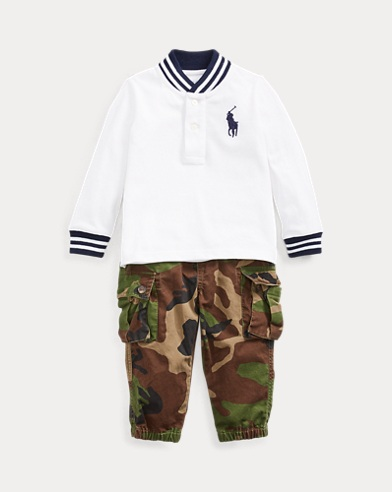 Cotton Tee & Cargo Trouser Set