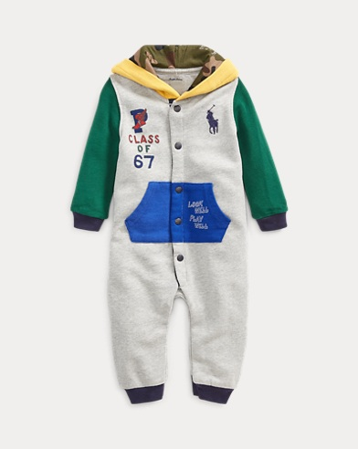 Cotton Hooded Graphic Coverall
