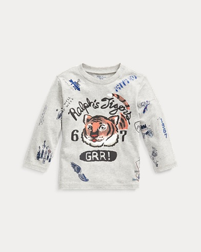 Cotton Long-Sleeve Graphic Tee