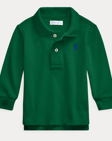 Langärmliges Polohemd aus Piqué