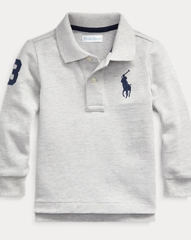 e7360509a Cotton Mesh Polo Shirt. Baby Boy