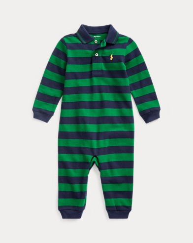 9c8e630a7654d Cotton Mesh Polo Coverall. Baby Boy. Cotton Mesh Polo Coverall. $35.00