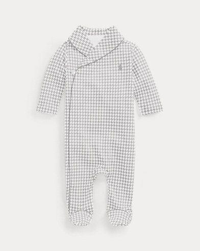 Houndstooth Cotton Coverall