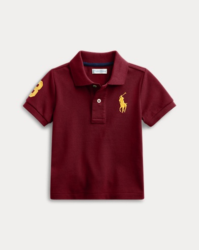 591483d62 Cotton Mesh Polo Shirt. Baby Boy