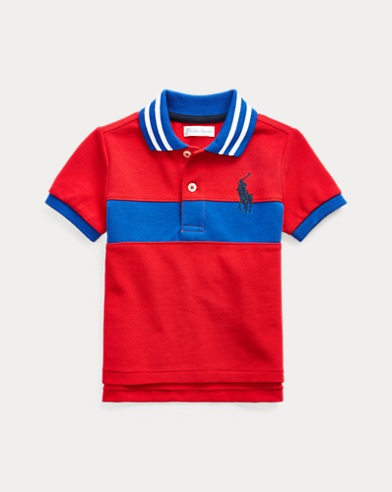 Embroidered Cotton Mesh Polo