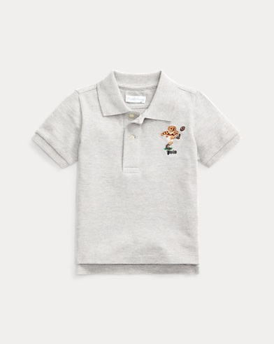 Rugby Bear Cotton Mesh Polo