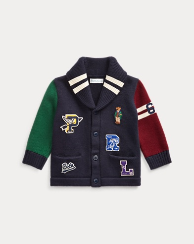 Polo Bear Cotton Cardigan