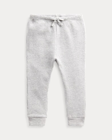 Waffle-Knit Cotton Trouser