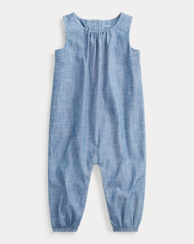 Cotton Chambray Romper