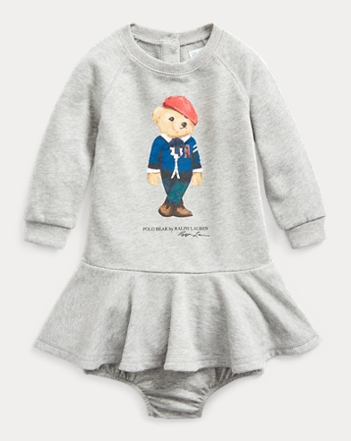 Cardigan Bear Dress & Bloomer