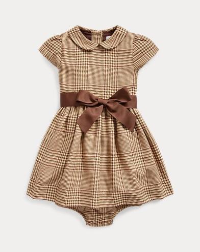 Kleid und Höschen mit Glencheck-Muster