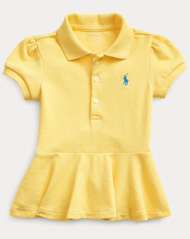 Piqué Peplum Polo Shirt