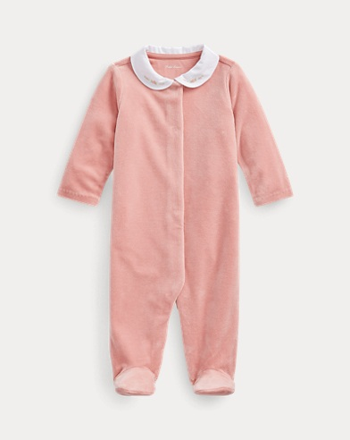 Velour Cotton-Blend Coverall