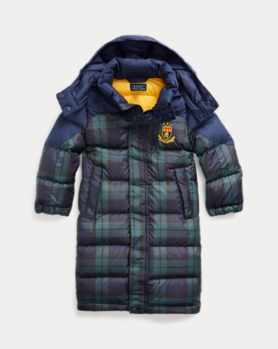 Tartan Down Hooded Coat