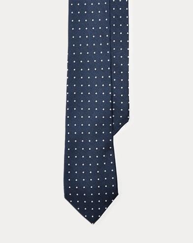 Dot Silk Repp Tie