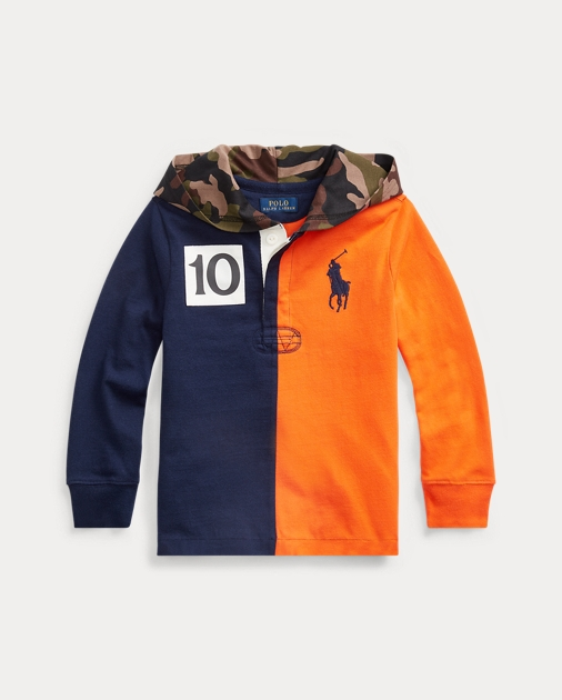 Polo RalphLauren Cotton Hooded Rugby Shirt