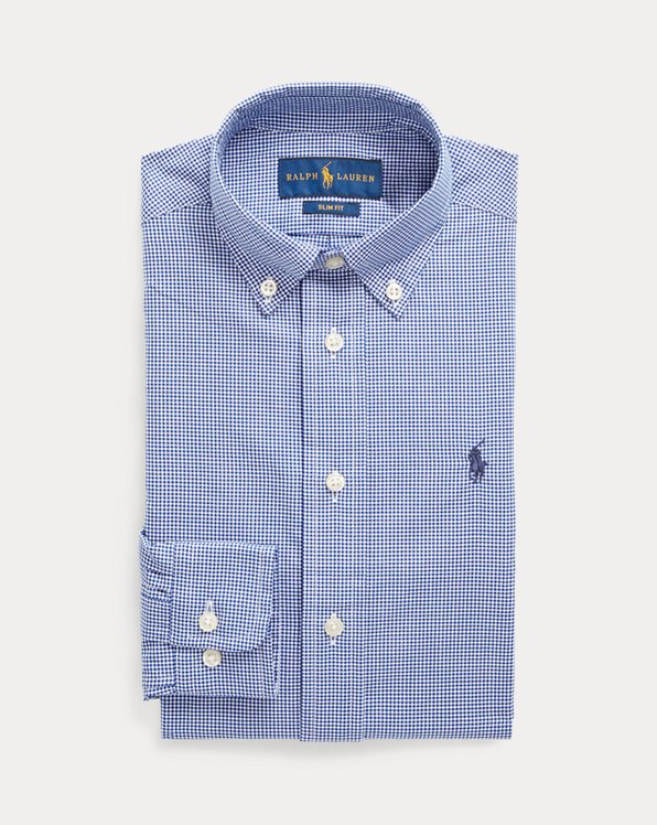Slim Fit Gingham Dress Shirt