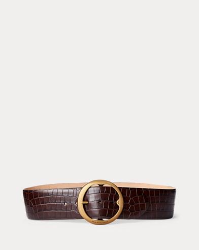 c4da7b6e9 Women's Belts in Leather, Calfskin, & Alligator | Ralph Lauren