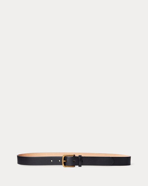 Cintura sottile in pelle di vacchetta