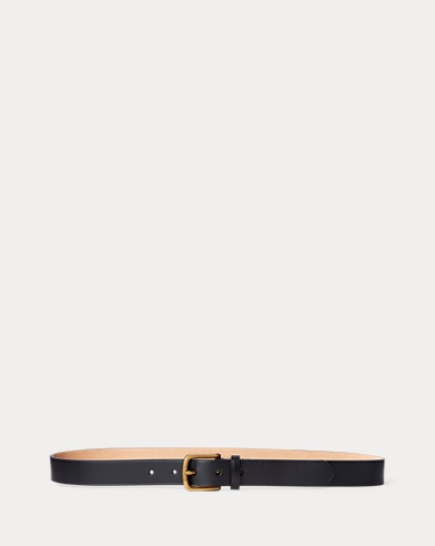 Vachetta Leather Skinny Belt