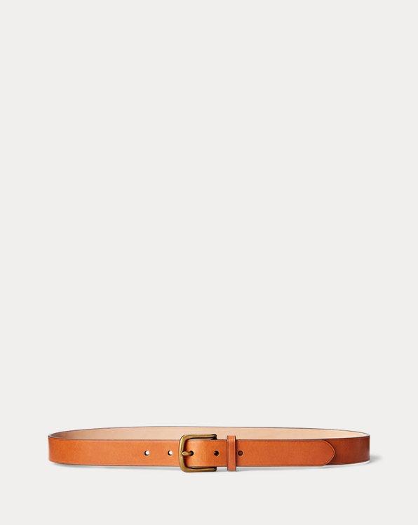 Cinturón estrecho de piel vachetta