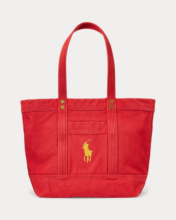 Canvas Gold Pony Tote